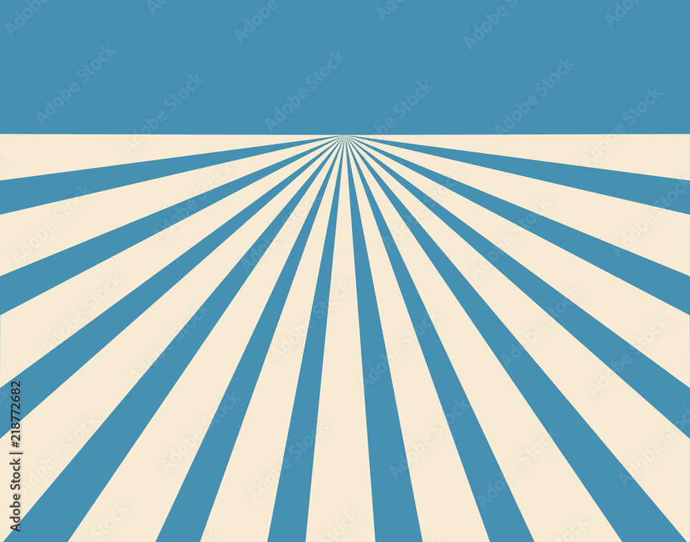 Fototapety, obrazy: Blue and offwhite converging lines background