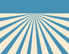 Blue And Offwhite Converging Lines Background