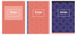 Light Multicolor vector style guide for notepads.
