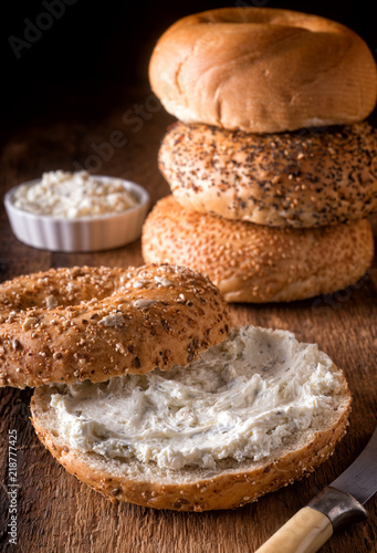 Bagel with Herb Cream Cheese