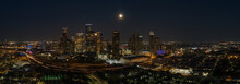 Aerial Night Panorama Houston ...