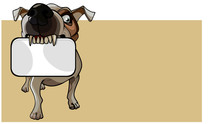Cartoon Brown Dog Keeps An Emp...