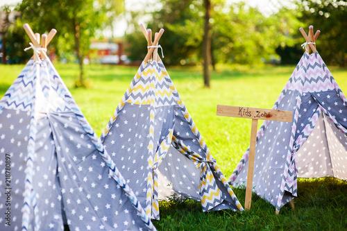 Wigwam tent for kids outdoor Fototapeta