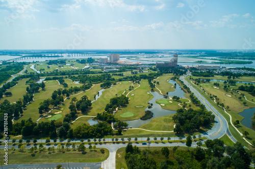 Aerial image Lake Charles Louisiana Wallpaper Mural
