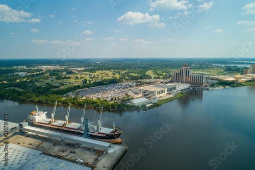 Photo Aerial image of Lake Charles port harbor