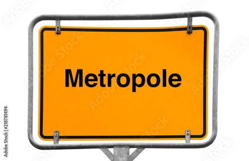 Foto  Metropole Wegweiser