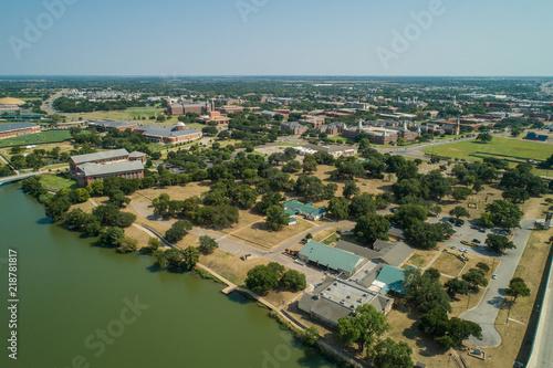 Aerial image of Baylor University Waco Texas
