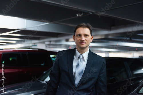 фотография  Handsome, attractive young happy, smiling, businessman closeup face portrait sta
