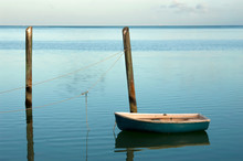 Solitary Small Boat Moored At ...