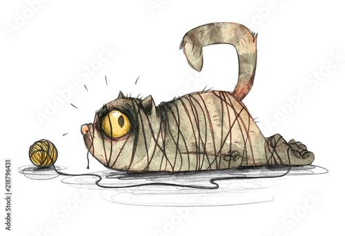 Obrazy dla dzieci kotek-w-klopotach