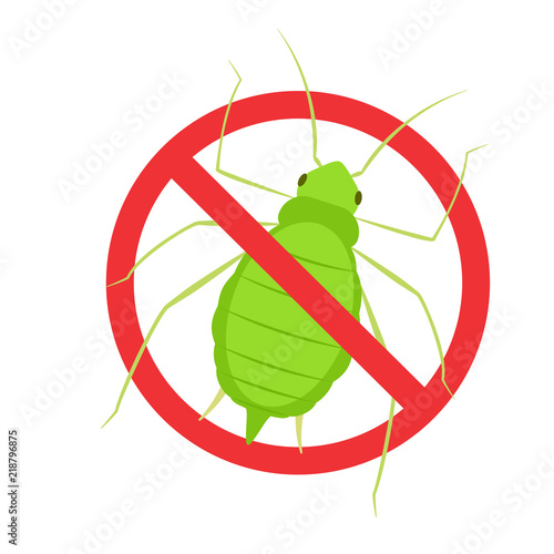Aphid vector icon Wallpaper Mural