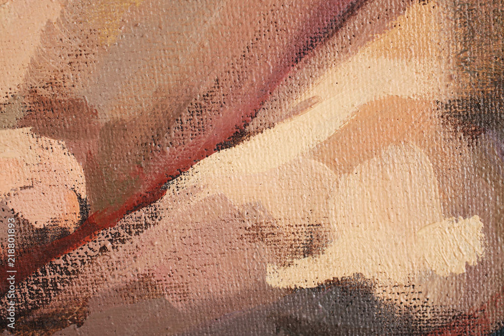 Fototapety, obrazy: Artists oil paints multicolored closeup abstract background
