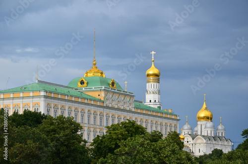 Fotografie, Obraz Veduta del Cremlino dal ponte sulla moldava a Mosca