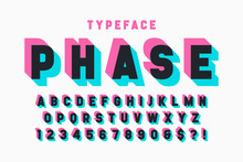 Glitched Display Font Design, ...