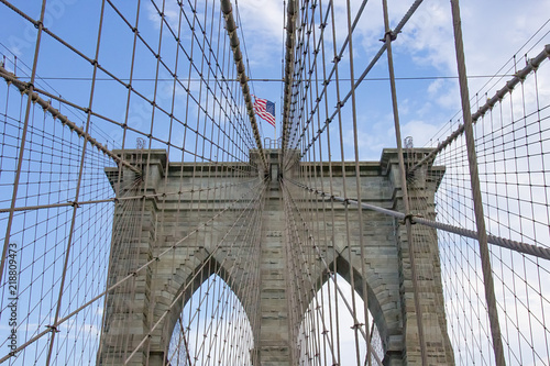 In de dag Brooklyn Bridge brooklyn bridge in New York