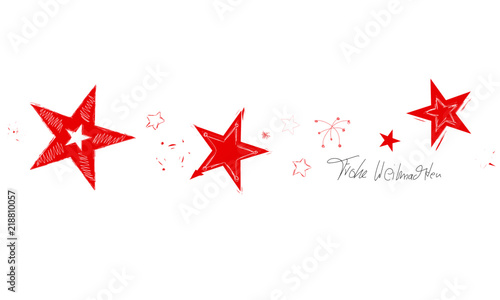 Stern Frohe Weihnachten.Stern Band Banner Rot Gruss Frohe Weihnachten Skizze Reihe