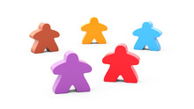 Five Figures For Table Games Of Different Colors