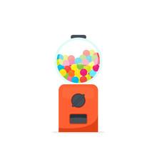Gumball Vending Machine Simple Icon