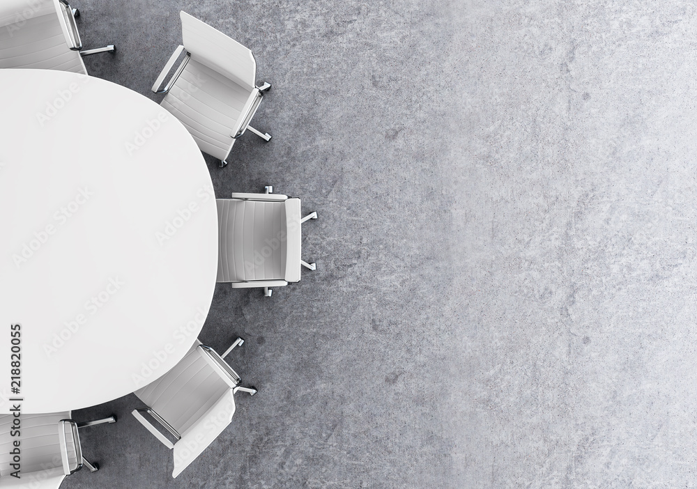 Fototapeta Concrete conference room top