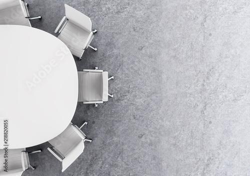 Obraz Concrete conference room top - fototapety do salonu
