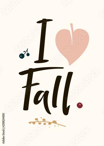 recznie-rysowana-karta-i-love-fall