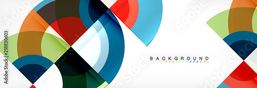Fototapeta Vector circular abstract background obraz