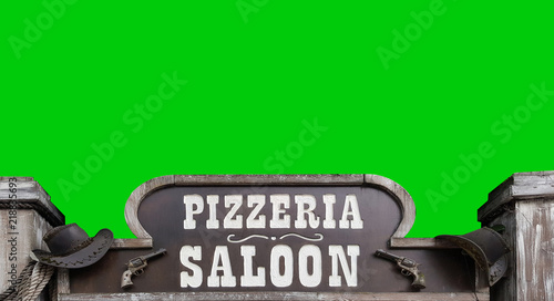 Keuken foto achterwand Pizzeria Insegna Pizzeria Saloon