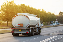 Tanker Lorry In Motion On The ...