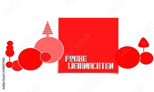 Frohe Weihnachten Band.Frohe Weihnachten Band Banner Welle Wellen Baum Bäume Gruß Rot