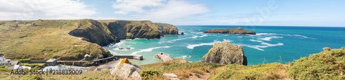 Fotografía Landscape Panorama  Mullion Cove The harbour at Mullion Cove West Cornwall South