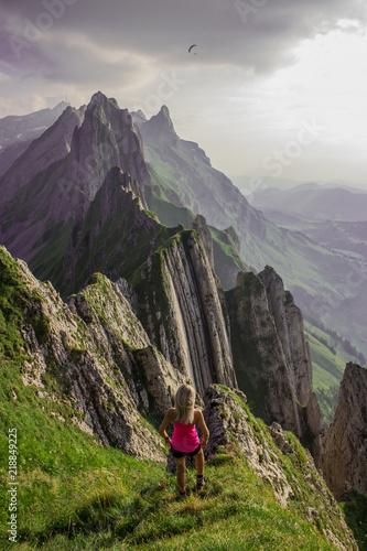 Foto op Aluminium Aubergine Unterwegs in den Appenzeller Alpen