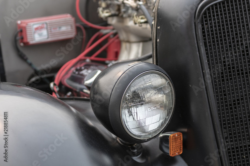 A Custom old Hot Rod Front End - Buy this stock photo and explore