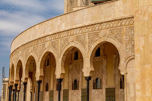 Foto  Arches extérieur Mosqué architecture bâtiment Maroc Casablanca