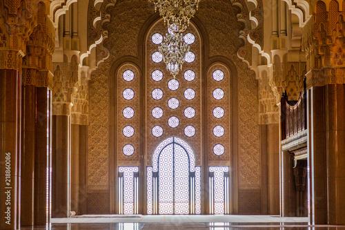 Fotografie, Obraz  Porte Mosquée Hassan 2 Casablanca Maroc