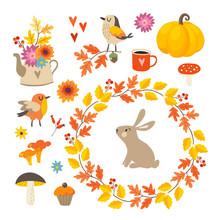 Set Of Cute Hand-drawn Autumn ...