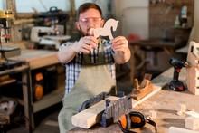 Bearded Carpenter In Protectiv...