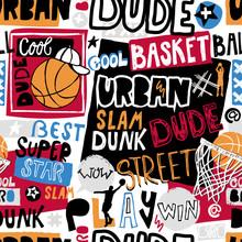 Vector Sketch Basketball Seaml...