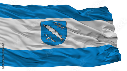 Canvastavla Rybnik City Flag, Country Poland, Isolated On White Background