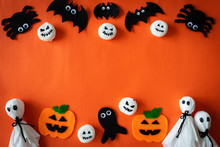 Top View Of Halloween Crafts, ...