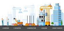 Sky Scraper Building Stages Composition