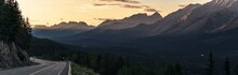 Panorama Of Kooteney Valley At...