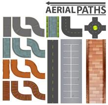 Set Of Aerial Paths