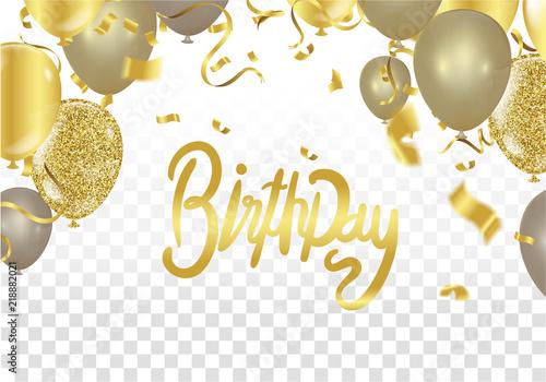 Photo  Happy birthday vector Celebration party print design