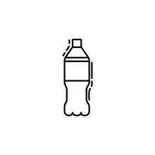 Soda Bottle Dusk Icon. Element Of Drinks And Beverages Icon For Mobile Concept And Web Apps. Thin Line Soda Bottle Icon Can Be Used For Web And Mobile