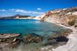 Beautiful sea beach in the Milos island, Greece, Aegean sea.