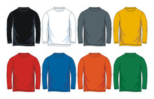 Colorful Blank Long Sleeve T-s...
