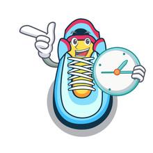 With Clock Cartoon Pair Of Cas...