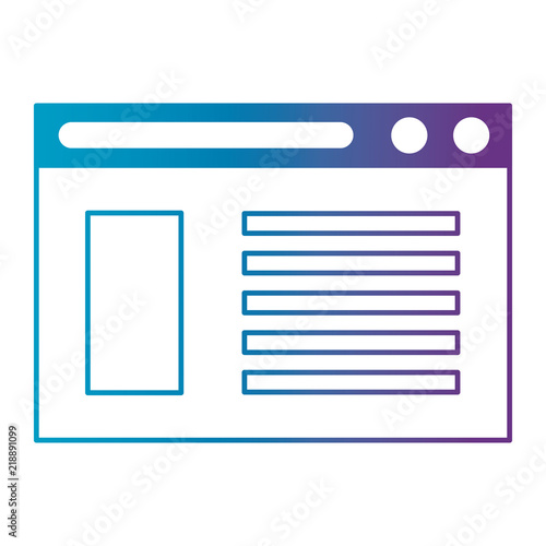 Fotografie, Obraz  webpage template isolated icon