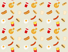 Fast Food Pattern Background