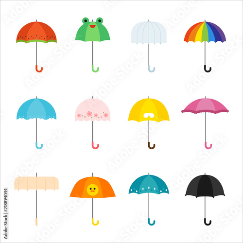 Foto  various kind of umbrellas